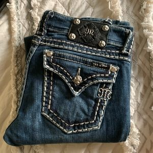Miss Me Jeans Boot Thick Stitching Style JP5014
